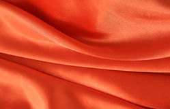 Confine arancio del raso di colore Fotografia Stock Libera da Diritti
