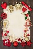 Confine astratto del fondo di Natale Immagine Stock