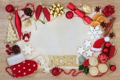 Confine astratto del fondo di Natale Fotografia Stock Libera da Diritti