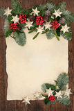 Confine astratto del fondo di Natale Fotografia Stock