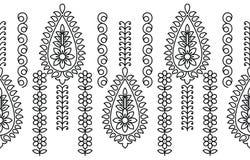 Confine in bianco e nero senza cuciture di Paisley Fotografie Stock