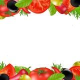 Confine con le verdure illustrazione di stock