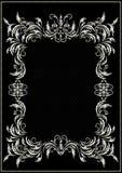 Confine d'argento con la decorazione nello stile vittoriano Fotografia Stock