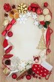 Confine decorativo astratto di Natale Fotografie Stock