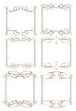 Confine decorativo d'annata di progettazione Immagini Stock