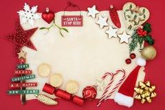Confine decorativo del fondo di Natale Immagine Stock Libera da Diritti