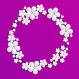 Confine decorativo del papercut con i fiori del Libro Bianco 3D carta co Royalty Illustrazione gratis