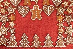 Confine dei biscotti del pan di zenzero Fotografia Stock