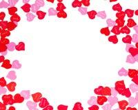Confine dei cuori variopinti della carta di giorno di biglietti di S. Valentino Immagine Stock Libera da Diritti