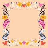 Confine dei fiori Immagini Stock
