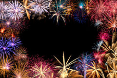Confine dei fuochi d'artificio Fotografia Stock