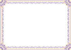 Confine del certificato Fotografia Stock