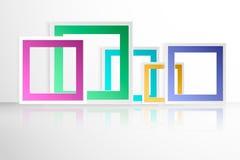 Confine del colorfull di vettore di origami di forma di progettazione Fotografia Stock