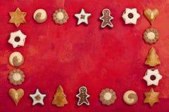 Confine del dolce di Natale Fotografie Stock