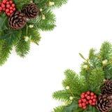 Confine del fondo di Natale Fotografie Stock