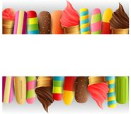 Confine del gelato illustrazione di stock