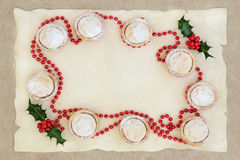 Confine del mince pie di Natale Fotografie Stock