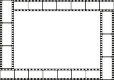 Confine del modello della striscia di pellicola, struttura del cinema, vettore Fotografie Stock