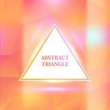 Confine del triangolo con gli effetti della luce Fotografia Stock