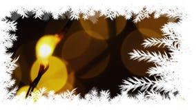 Confine dell'albero di Natale con le luci illustrazione di stock