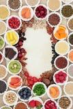 Confine dell'alimento salutare Immagini Stock Libere da Diritti