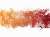 Confine dell'arancia dell'acquerello Fotografia Stock