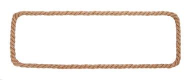 Confine della corda isolato su fondo bianco Immagini Stock