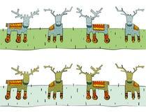 Confine della renna di Tileable Fotografia Stock