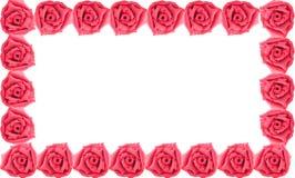 Confine della rosa rossa fatto da argilla Fotografie Stock Libere da Diritti