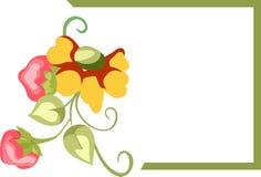 Confine della struttura del fiore Fotografie Stock