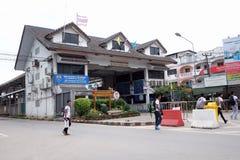 Confine della Tailandia Birmania Fotografia Stock