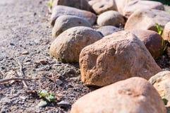 Confine delle pietre natura, pace Fotografie Stock