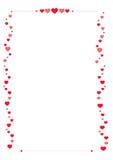 Confine di carta del biglietto di S. Valentino Fotografia Stock