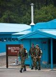 Confine di Corea del Nord e del Sud di JSA DMZ Fotografia Stock Libera da Diritti