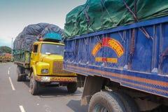 Confine di Petrapole - frontiera internazionale di commercio dell'India Bangladesh Fotografia Stock Libera da Diritti
