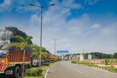 Confine di Petrapole - frontiera internazionale di commercio dell'India Bangladesh Immagine Stock Libera da Diritti