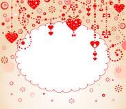 Confine di rosso del biglietto di S. Valentino Fotografia Stock Libera da Diritti