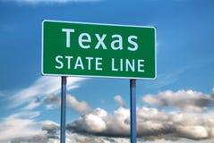 Confine di stato del Texas segno Fotografia Stock Libera da Diritti