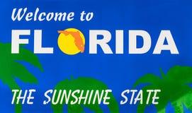 Confine di stato di Florida Fotografia Stock Libera da Diritti