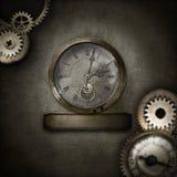Confine di Steampunk con cuore in cupola di vetro Fotografia Stock