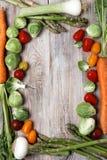 Confine di verdure fotografia stock