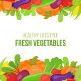 Confine di verdure senza cuciture Fotografia Stock