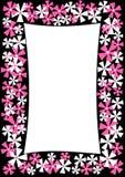 Confine el marco con las flores rosadas y blancas stock de ilustración