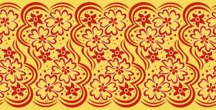 Confine floreale astratto Fotografia Stock