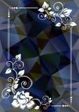 Confine floreale blu scuro illustrazione di stock
