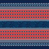 Confine floreale del blockprint Fotografia Stock Libera da Diritti