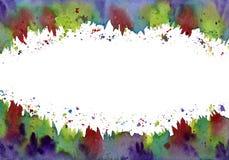 Confine floreale dell'acquerello astratto (Highres) Fotografie Stock Libere da Diritti