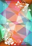 Confine floreale di marrone blu illustrazione di stock
