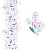 Confine floreale senza cuciture e piccolo mazzo. Fotografia Stock Libera da Diritti