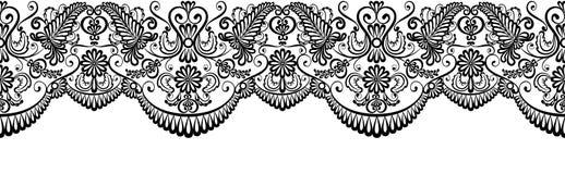 Confine nero del pizzo royalty illustrazione gratis